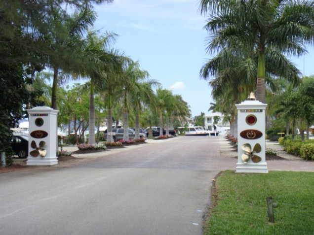 Road Entrance to the Marina